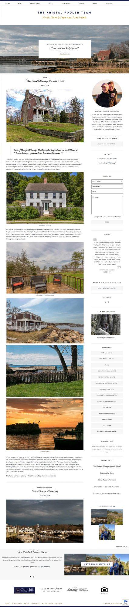 Kristal Pooler Real Estate website screenshot