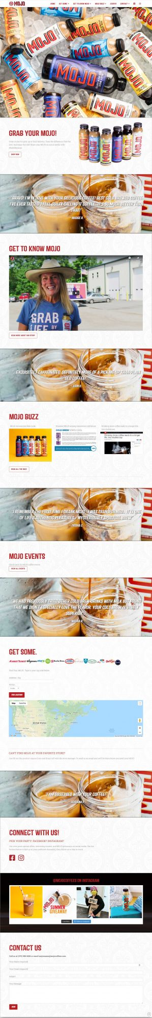 Screenshot of MojoCoffees.com