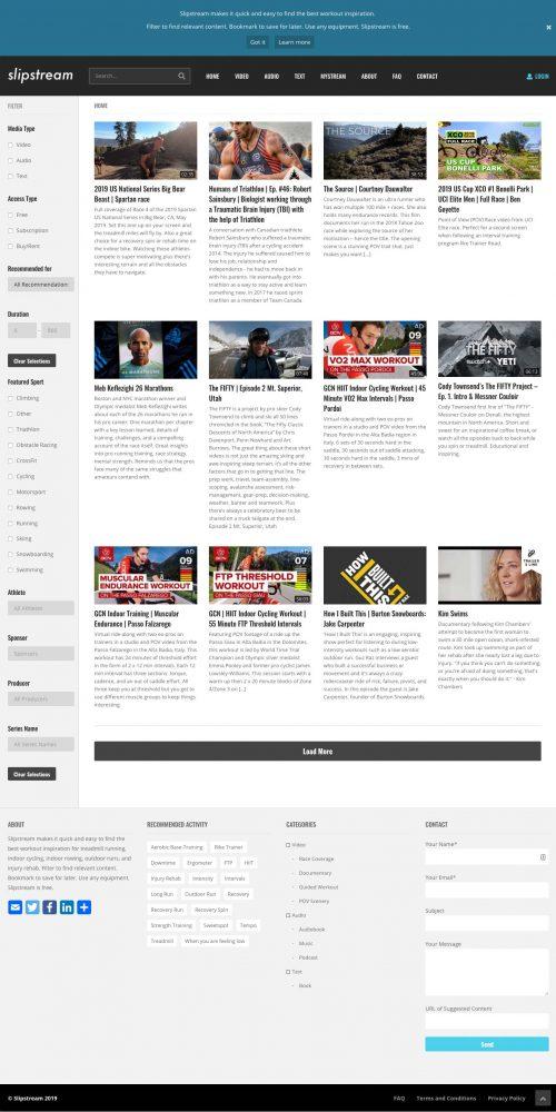 slipstream website screenshot